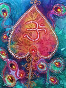 Signs Mixed Media Prints - Om Shanti Print by Vijay Sharon Govender