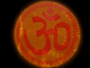 Red Paintings - Om Yoga by Sacred  Muse