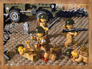 Lego Prints - Omaha Beach June 6 1944 Print by Josh Bernstein