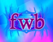 Slang Digital Art - OMG fwb by Linda Seacord