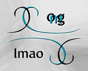 Slang Digital Art - OMG lmao by Linda Seacord