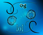 Slang Digital Art - OMG lol by Linda Seacord