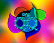 Slang Digital Art - OMG qq by Linda Seacord
