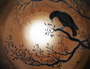 Laura Milnor Iverson Painting Originals - Ominous Bird of Yore by Laura Iverson