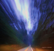 Midnight Blue Prints - Ominous Roadway Print by DigiArt Diaries by Vicky Browning