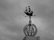 Weather Vane Prints - Ominous Sailing Print by E Robert Dee
