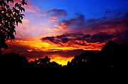 Ominous Sunset Print by Clayton Bruster