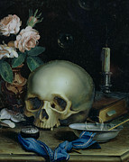 Bowl Paintings - Omnia Vanitas by Dutch School