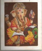 Ganapati Paintings - Omniscient by Gayatri Ketharaman