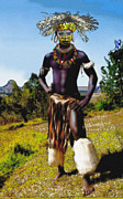 Tribal Art Paintings - Omo Valley Dandy by Jann Paxton