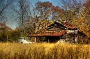 Barns North Carolina Prints - On a Backroad Print by Benanne Stiens