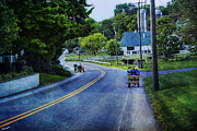 Amish Prints - On A Country Road - Lancaster - Pennsylvania Print by Madeline Ellis