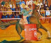 Rodeo Paintings - On a dime by Joshua Morton