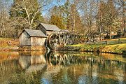 Grist Millpond Metal Prints - On a March Day Metal Print by Darren Fisher