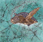 Hawaii Sea Turtle Paintings - On a Mission by Shari Carlson