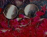 Petals Mixed Media - On a rainy day its fine to be inside by Pepita Selles