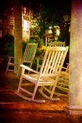Rocking Chairs Photo Prints - On a Sunday Afternoon Print by Susanne Van Hulst