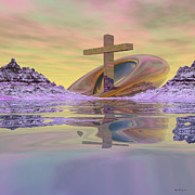 Crosses Digital Art - On Bended Knee by Wayne Bonney