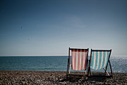 Vacations Prints - On Brighton Beach Print by SVGiles