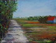 Area Pastels Prints - On Crow Creek Farm Print by Joyce A Guariglia