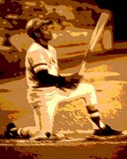 Roberto Clemente Prints - On Deck Print by Spencer McKain
