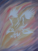 Bird Of Prey Art Paintings - On Eagles Wings by Mark Schutter