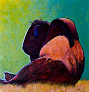 The American Buffalo Art - On Empty Bison by Joe  Triano