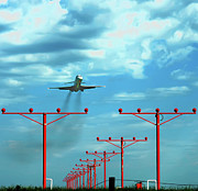 Stl Prints - On Final Approach Print by Bibhash Chaudhuri