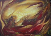 Postage Included Paintings - On Fire by Adrian Van Staden 