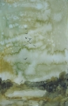 Elizabeth Carr Prints - On Golden Pond Print by Elizabeth Carr