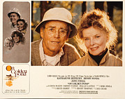 Fonda Framed Prints - On Golden Pond, Henry Fonda, Katharine Framed Print by Everett