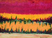 Alluring Paintings - On Golden Pond by Kimberlee Weisker