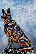 German Shepard Digital Art - On Guard by Tommy Anderson