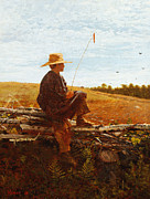 Rural Landscape Prints - On Guard Print by Wisnlow Homer