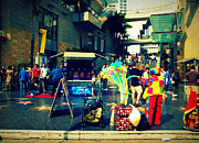 Vendors Prints - On Hollywood Boulevard in LA Print by Susanne Van Hulst