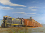Boxcars Framed Prints - On Industry Track Framed Print by Christopher Jenkins