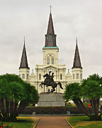 Jackson Prints - On Jackson Square Print by Perry Webster