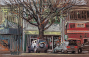 Pastel Photo Originals - On Marietta Square by Donald Maier