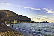Sicily Prints - On Mondello Beach Print by Madeline Ellis