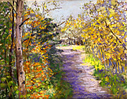 Aspen Trees Pastels Prints - On Osha Trail Print by Donna Gordon