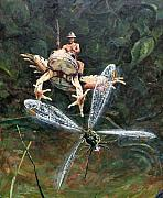 Dragonfly Painting Originals - On Patrol by Gary Symington