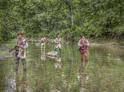 On Patrol With Wulff's Rangers Junita Crossing Print by Randy Steele