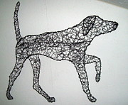 Canine Sculpture Prints - On Point Print by Charlene White