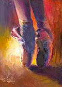 Dance Shoes Posters - On Pointe at Sunrise Poster by Ann Radley