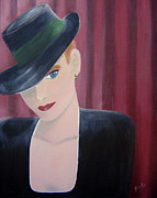 Fedora Paintings - On Stage by Donna Blackhall