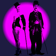 Chaplin Prints - On Stage Print by Stefan Kuhn