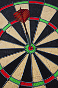 Throw Photo Prints - On Target Bullseye Print by Garry Gay