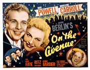 Newscannerlg Framed Prints - On The Avenue, Dick Powell, Madeleine Framed Print by Everett