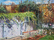 Backyard Paintings - On The Backyard of my Studio by Ylli Haruni