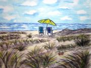 Kathy Marrs Chandler Art - On The Beach by Kathy Marrs Chandler
